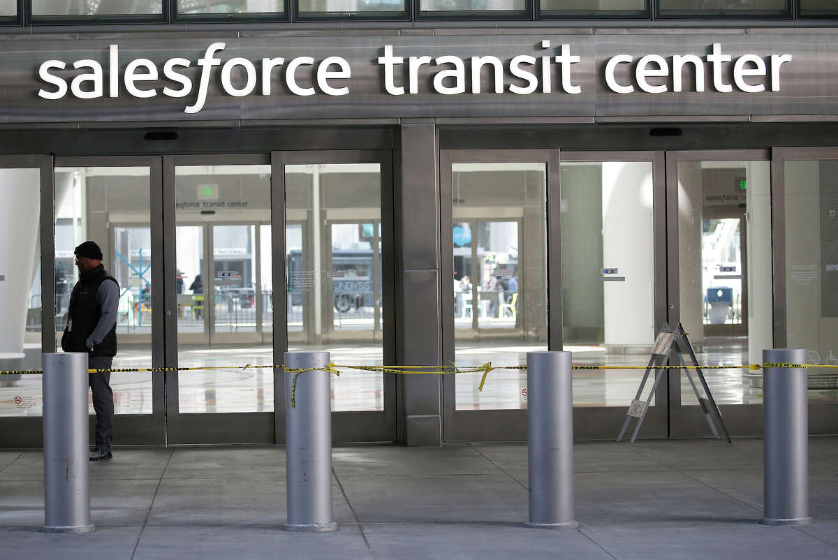 File photo of the Salesforce Transit Center nearby the tower planned for 542-550 Howard St.