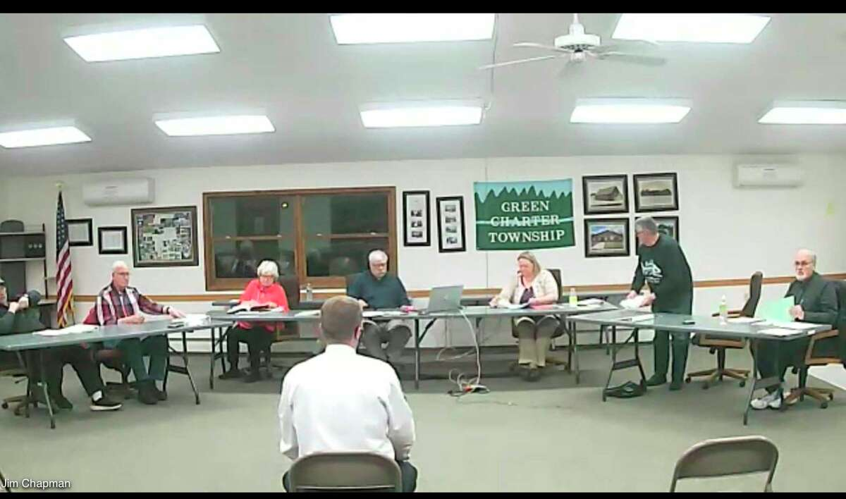 The Green Township board of trustees approved a Metro Act application from Point Broadband during its virtual meeting this week. The application had been denied earlier because it did not include a surety bond. (Pioneer photo/Cathie Crew)