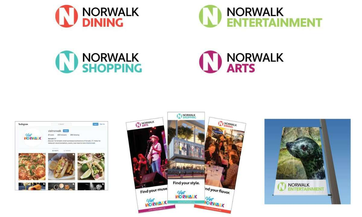 One of three sub-logo options for a Norwalk survey on tourism branding.