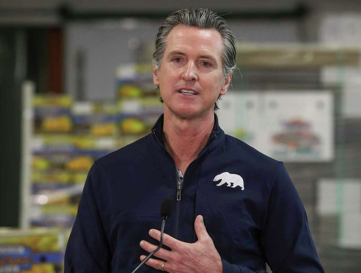 In this Feb. 17 file photo, Gov. Gavin Newsom speaks during a news conference in Coachella (Riverside County). On Thursday, Newsom signed a bill that allows business to write off expenses on their state taxes if they were paid for with Paycheck Protection Program loans that were later forgiven, mirroring how the money is treated for federal tax purposes.