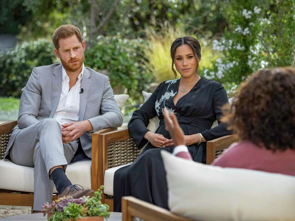 Prince Harry and Meghan, Duchess of Sussex, have a televised interview with Oprah Winfrey, which aired Sunday.