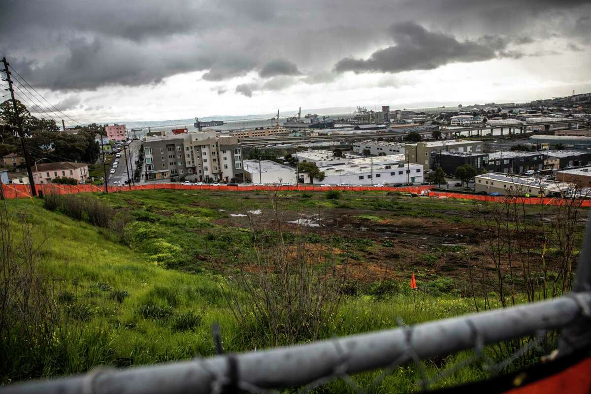 The construction site at Connecticut and 26th streets is part of the ambitious Hope SF revitalization effort.