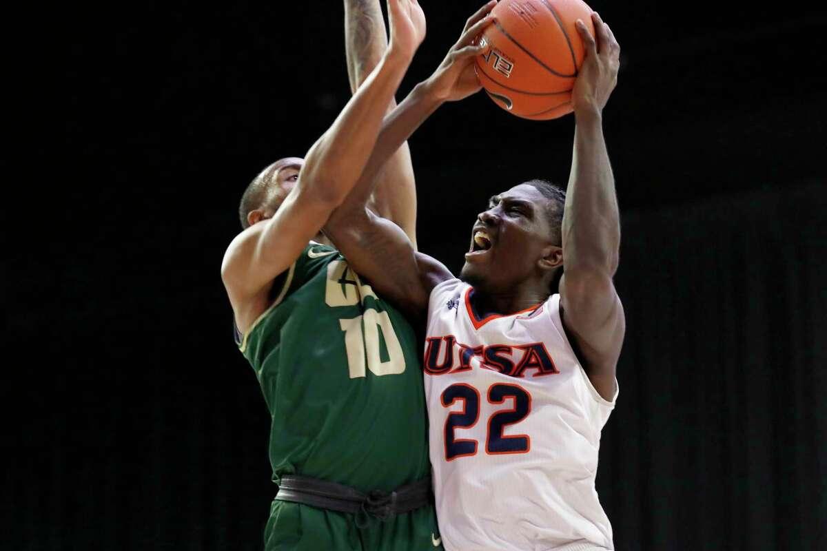 UTSA's Keaton Wallace at the Conference USA basketball tournament March 9-13, 2021.