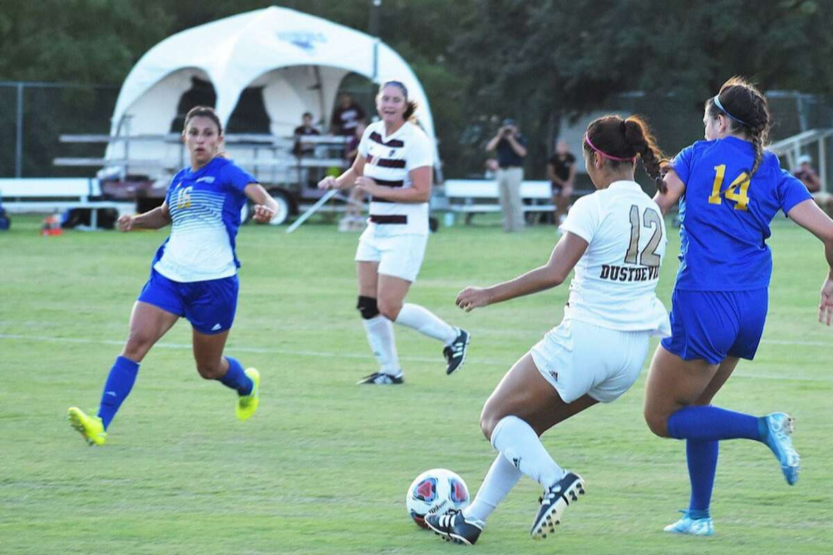 Vivian Martinez assisted on the game-winning goal by Leianna Jimenez as TAMIU won 1-0 in overtime at home against St. Mary's.