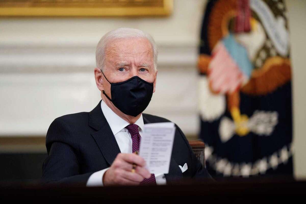 El presidente Joe Biden en la Casa Blanca en Washington el 5 de marzo del 2021.
