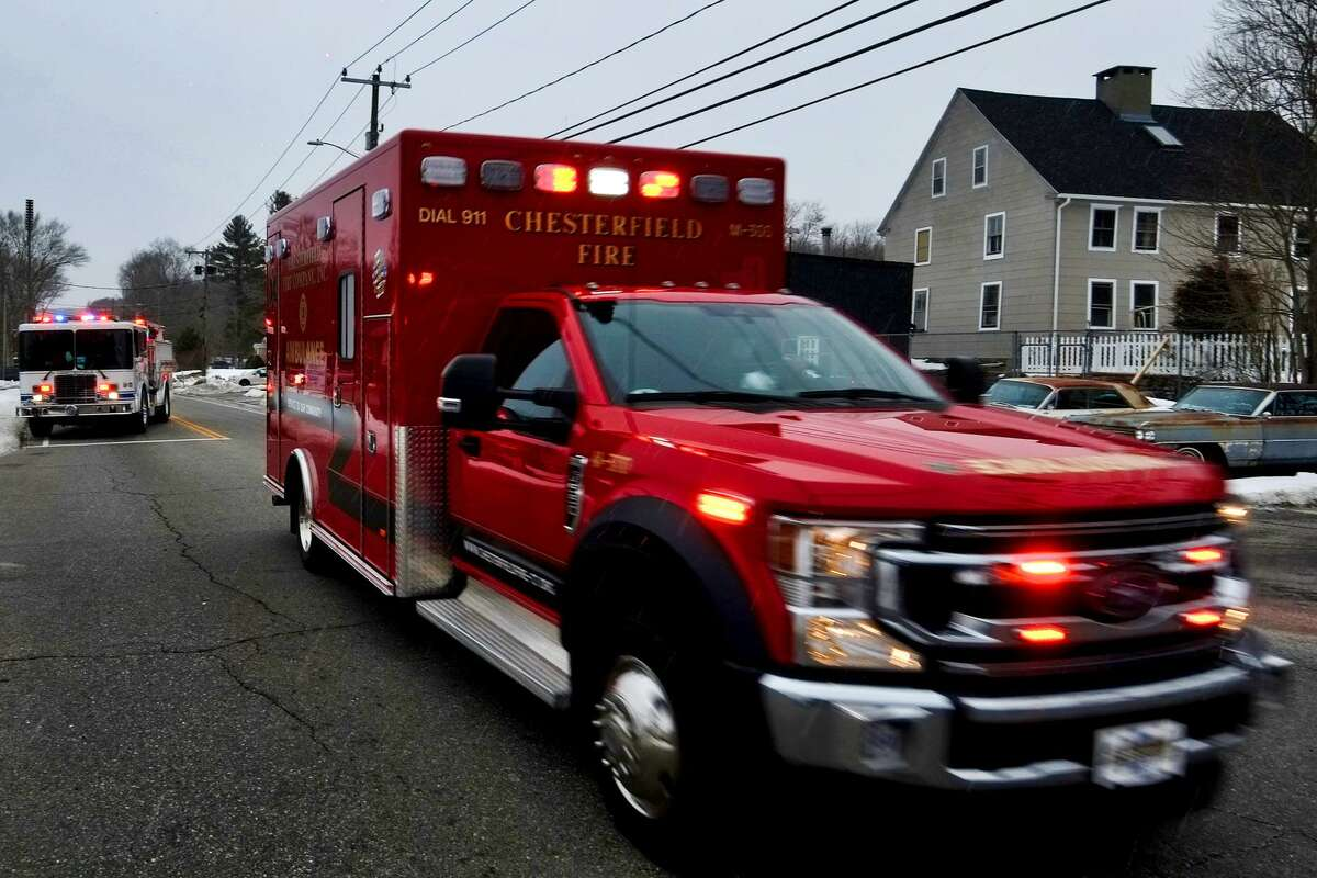 A photo of a Chesterfield fire truck, taken by PIO Steven Frischling on Feb. 7, 2021, at the scene of an accident. Frischling has since been arrested in connection with other photos he took and posted to social media after the accident.