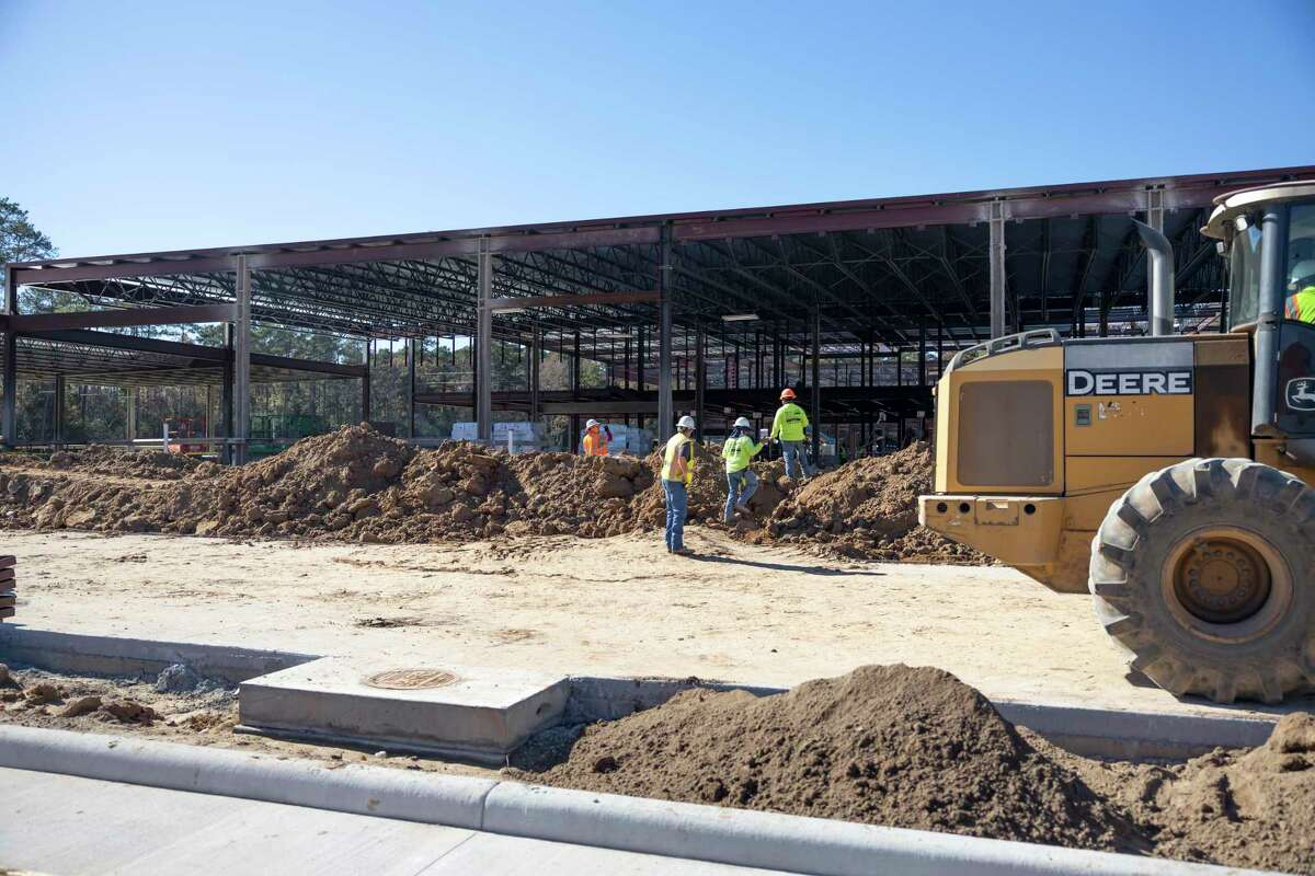 Construction takes place at the location of Willis ISD's new elementary school near Longmire Road, Dec. 9, 2020, in Willis. The two-story campus is expected to house 850 kindergarten through fifth grade students and will be the sixth elementary school in the district.