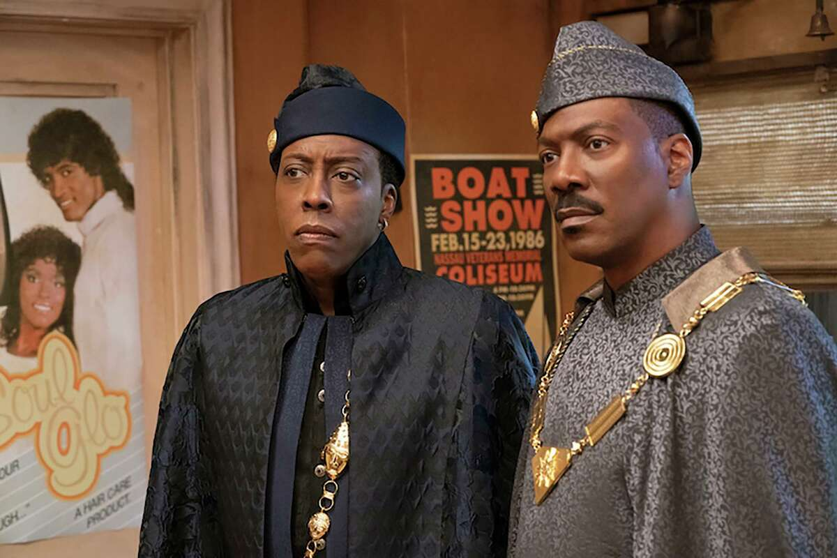 """Arsenio Hall and Eddie Murphy in """"Coming 2 America."""""""
