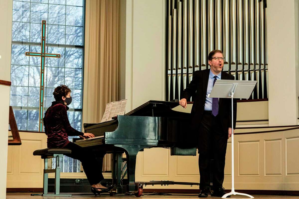 Keith Clifton, accompanied by Adrienne Wiley,performed a varied program on March 5 as part of Memorial Presbyterian Church's Lenten Concert Series. (Photo provided)