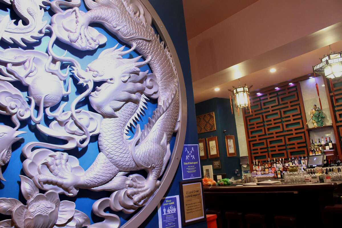 The entrance to Lion's Den, a new nightclub in San Francisco Chinatown.