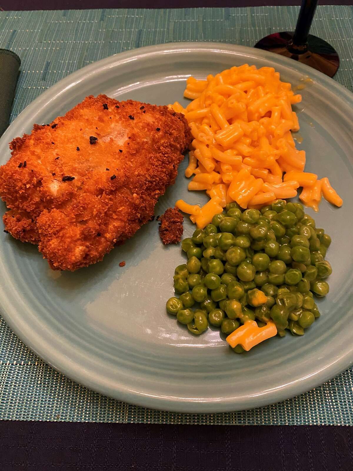 The fried chicken meal Zane Fisher-Paulson cooked for his family in early March 2021.