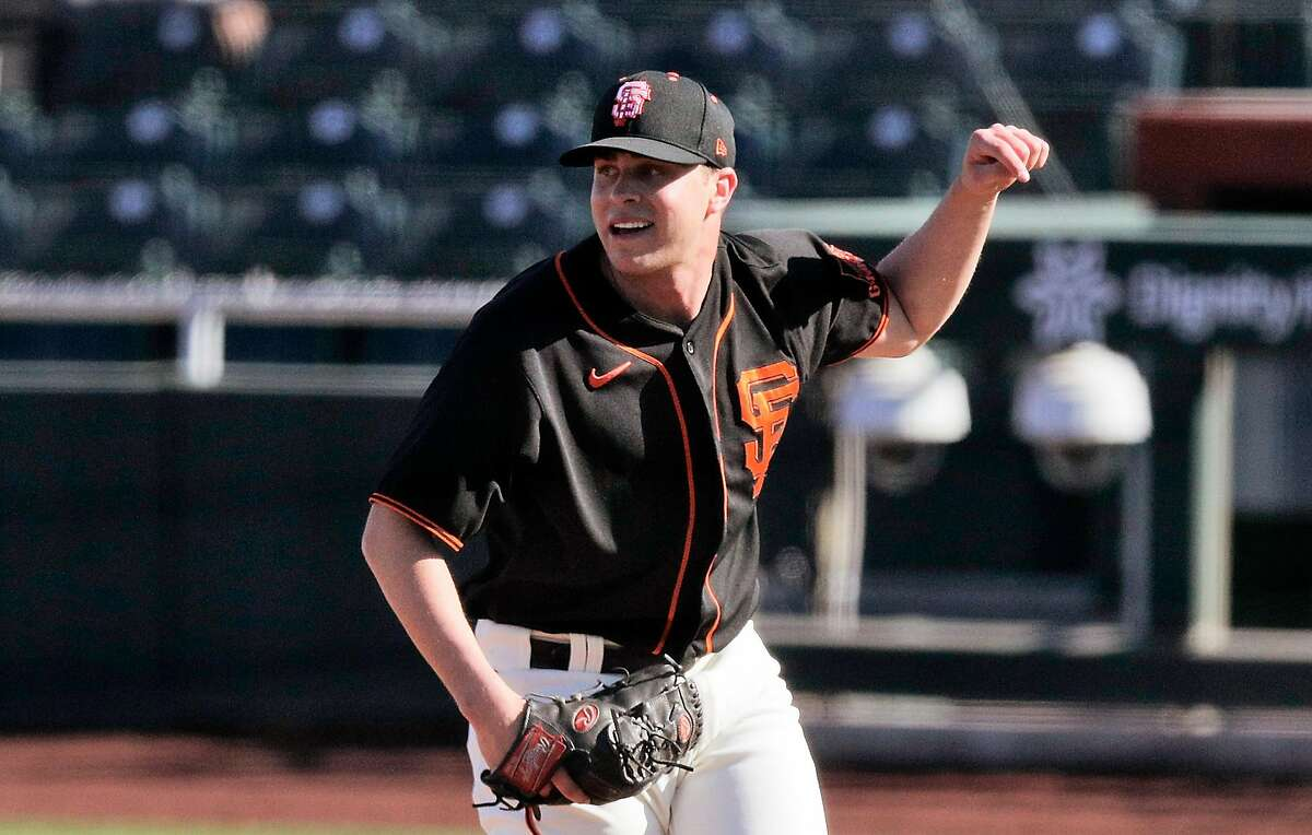 """San Francisco Giants pitcher Sam Long has worked 2 ?..."""" scoreless innings this spring, allowing two hits, striking out four and walking zero while earning a save."""