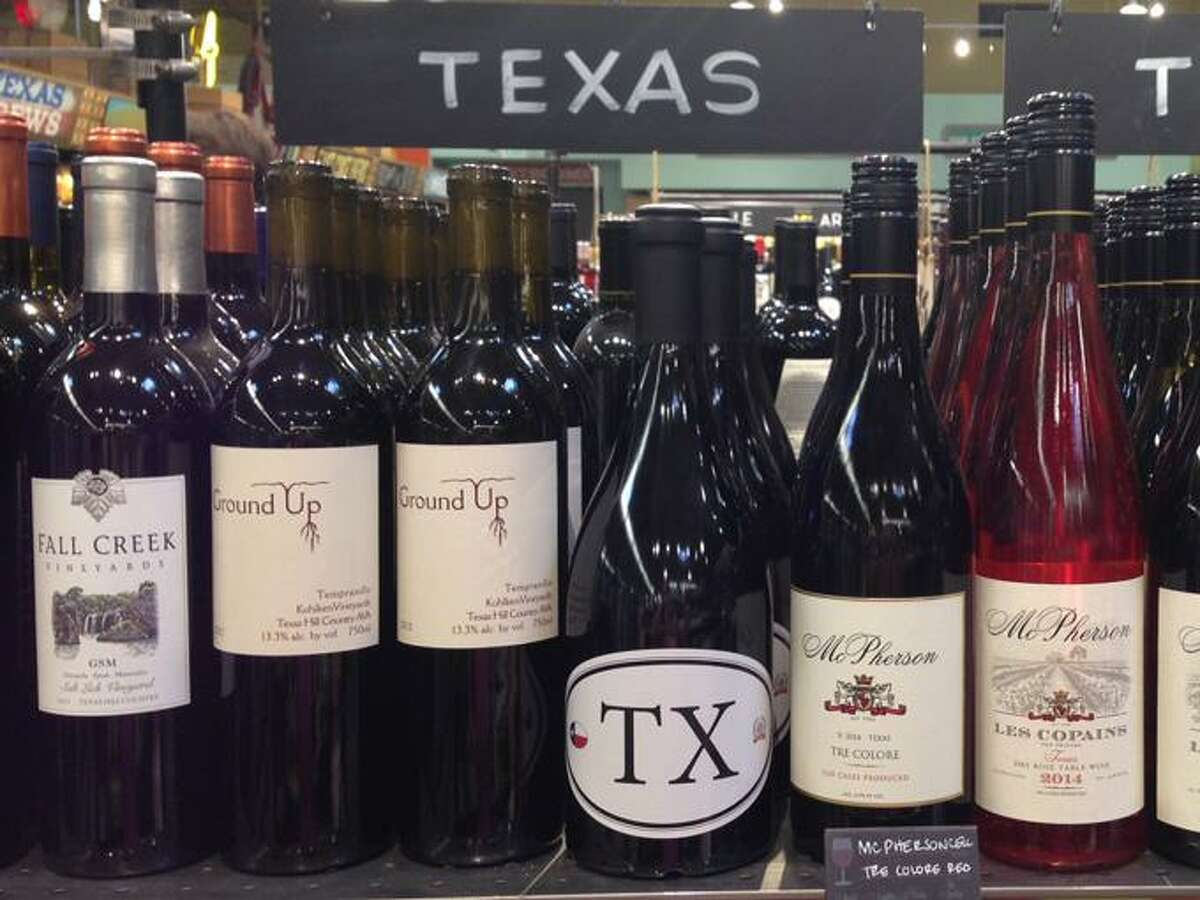The Texas wine selection on a store shelf. Today Ron Saikowski discusses the impact of red and white wine on the body.
