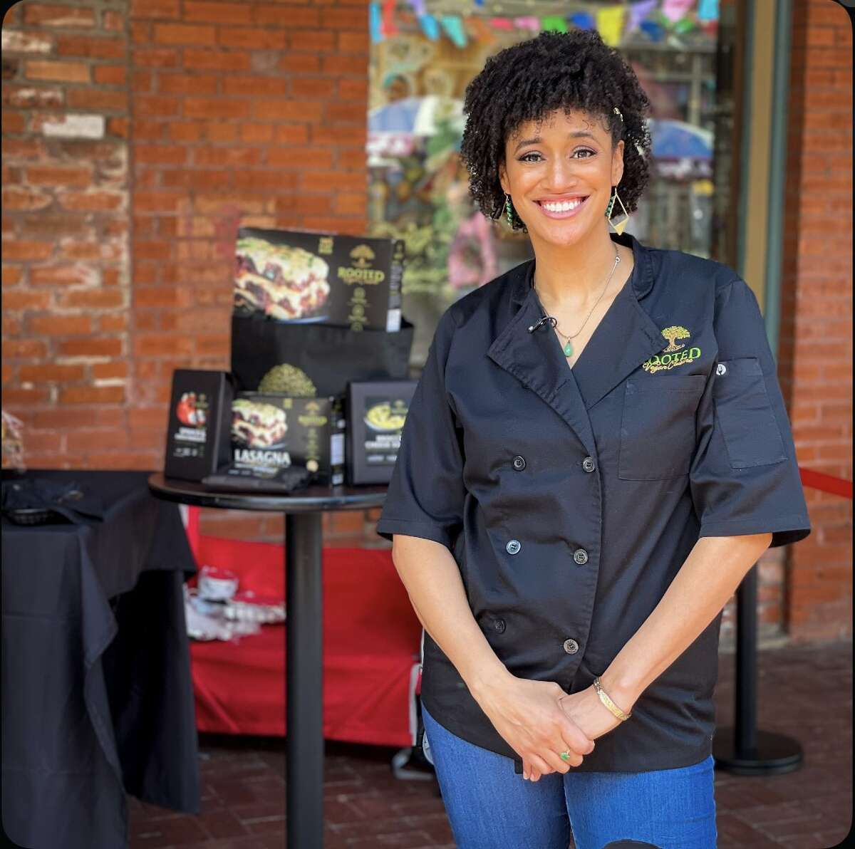 """Naomi Hendrix Oyegoke is launching Vegan Family Reunion, an inaugural event taking place March 21 at Cherrity Bar. Oyegoke is the owner and head chef of Rooted Vegan Cuisine. The market is aimed at highlighting local, Black-owned businesses while educating the community on alternatives to foodie favorites. Oyegoke said she wants to show San Antonio that healthy, plant-based food aren't """"intimidating or unsatisfying."""""""