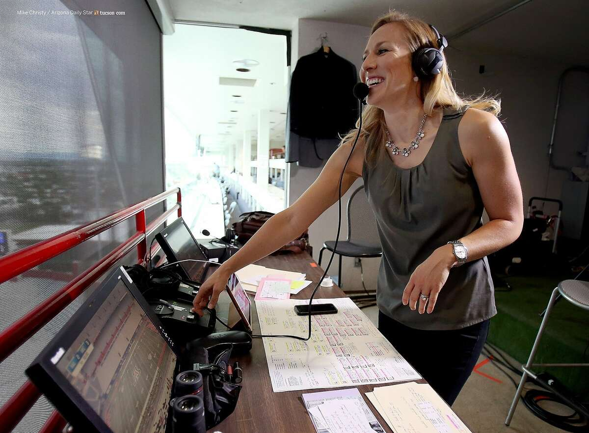 Bay Area sportscaster Kate Scott will make history when she serves as the play-by-play voice for the Warriors' on March 29.