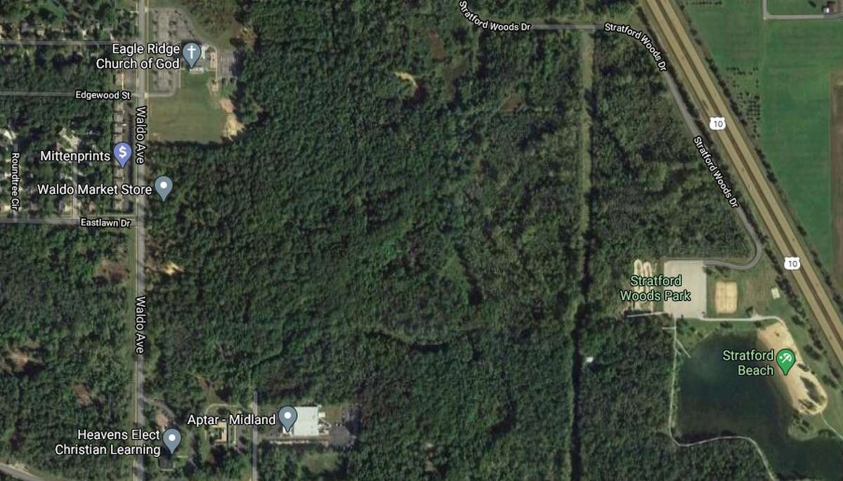 Eagle Ridge Nature Preserve will be located just west of Stratford Woods Park in Midland. (Screen photo/Google Maps)