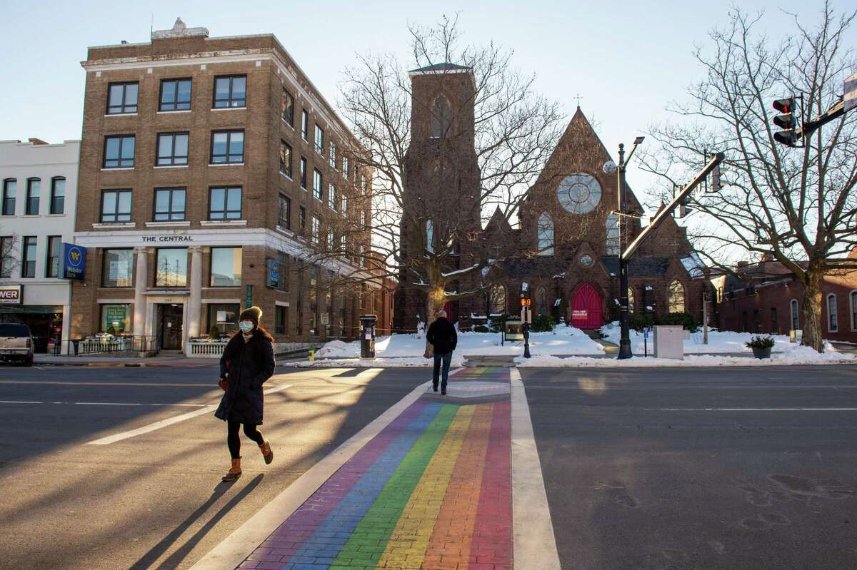 Painted late last year to honor Middletown's year-round celebration of LGBTQ+ pride, the rainbow-colored crosswalk on Middletown's Main Street symbolizes how the city embraces diversity of all kinds in its downtown philosophy.