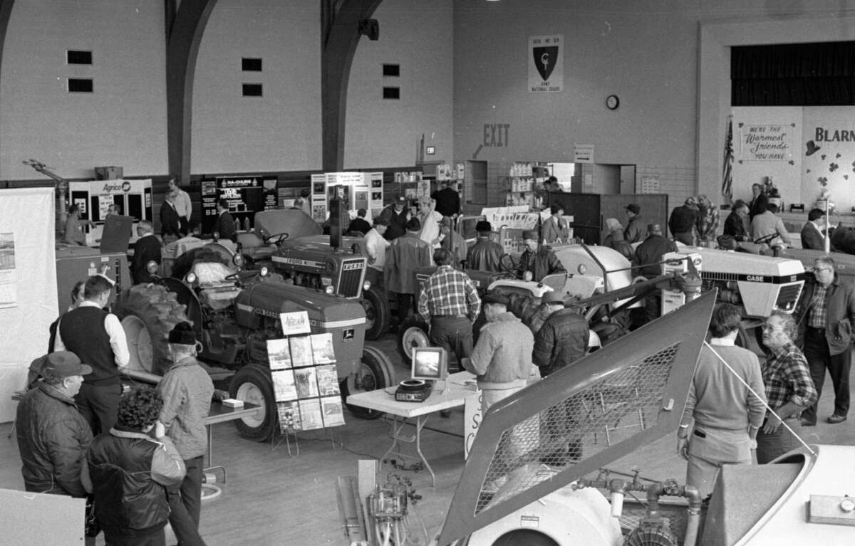 Approximately 250 fruit and berry growers from the Manistee-Benzie County area attended yesterday's session of the Manistee-Benzie County Horticultural Show at the Manistee Armory. This photo was published in the News Advocate onMarch 12, 1981. (Manistee County Historical Museum photo)