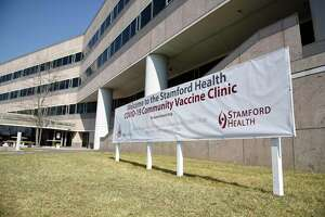 "The Building and Land Technology  property at 1 Elmcroft Road in the Harbor Point section of Stamford  has been converted to a COVID-19 vaccination ""super site.""  Through a partnership between the city,  Stamford Health, and BLT, the building will be used for vaccinations beginning March 15."