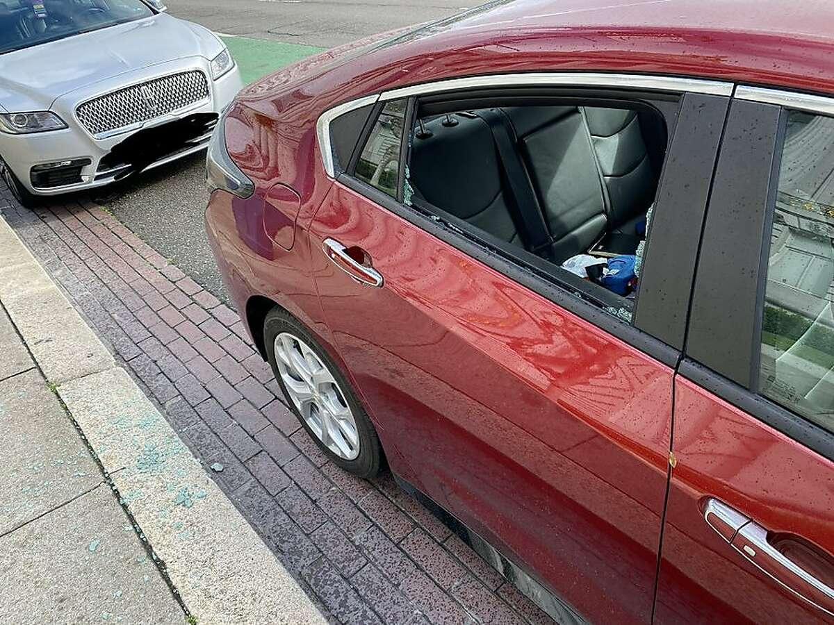 Supervisor Ahsha Safai's car was broken into outside of City Hall on Tuesday