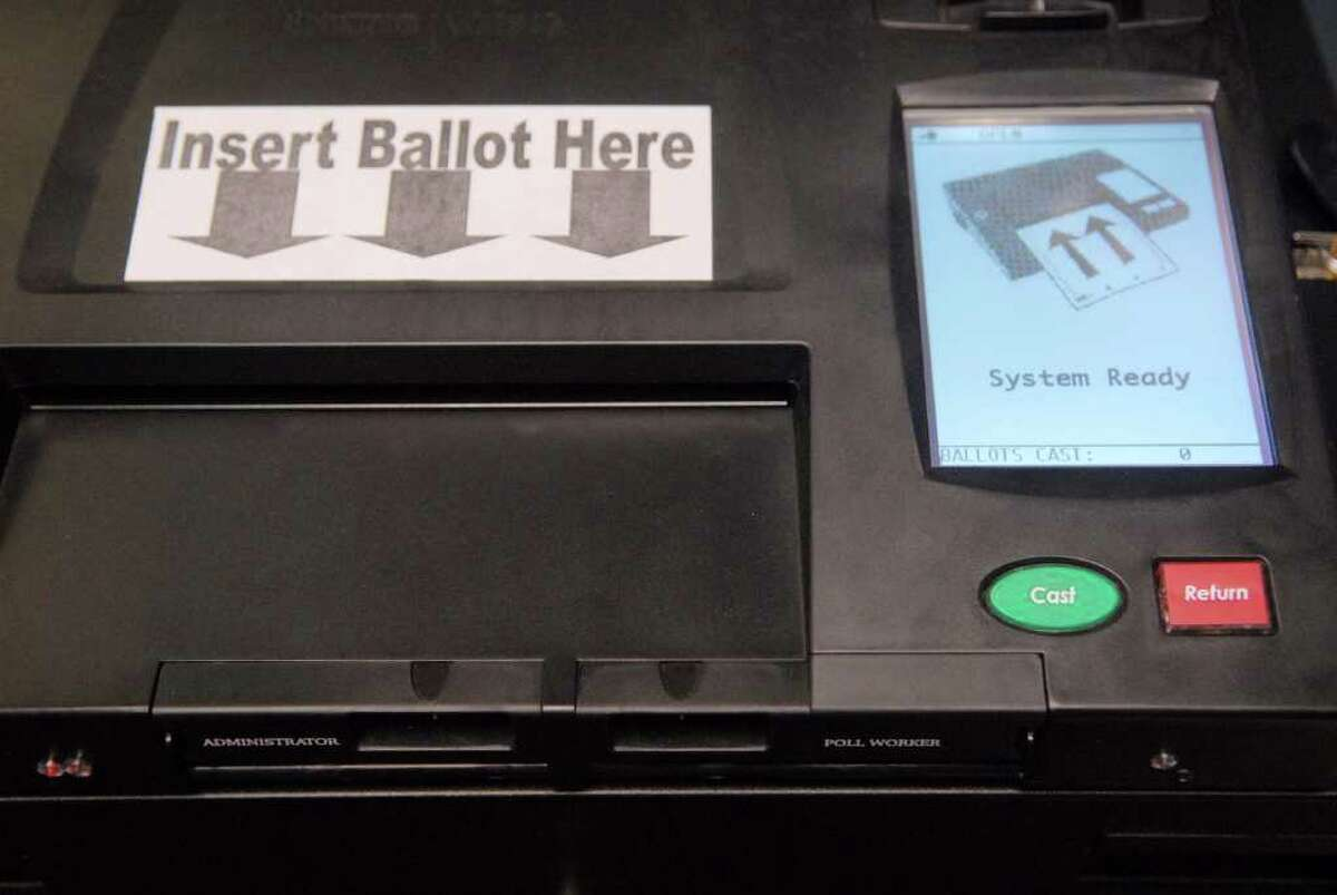 A view of the Dominion Imagecast, paper ballot optical scan voting system, seen here at the Rensselaer County Board of Election in Troy. This is the voting machine residents in Rensselaer County will use when casting their votes. (Paul Buckowski / Times Union)