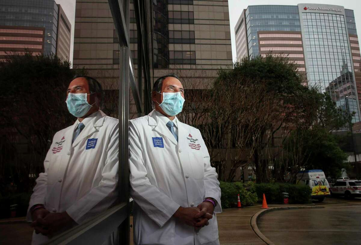 James Versalovic, MD, PhD, the interim pediatrician-in-chief and the pathologist-in-chief at Texas Children's Hospital, poses for a portrait Friday, Feb. 5, 2021, at the hospital in Houston.