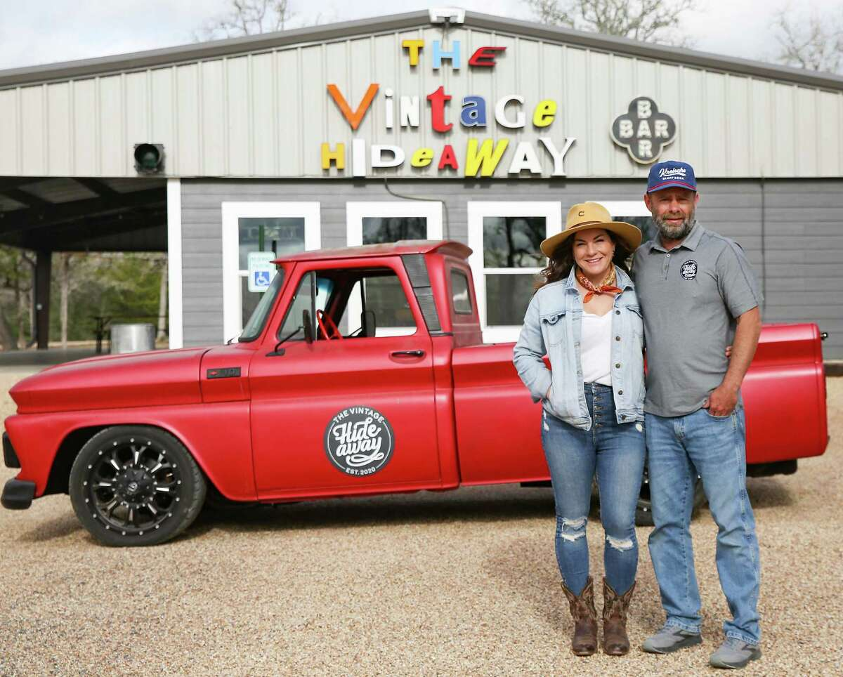 Vintage Hideaway owners Eva Park and Bryan Broussard have added a bar and food truck to their rental cabin compound.