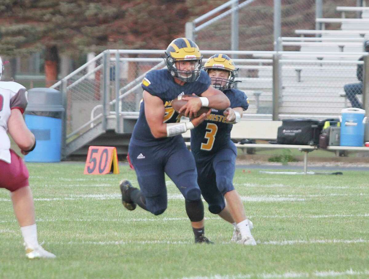 Manistee's Landen Powers signed to play football for Olivet College. (News Advocate file photo)
