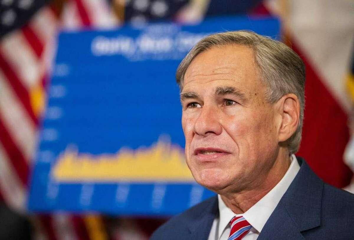 El gobernador de Texas, Greg Abbott, durante una conferencia de prensa en Austin.