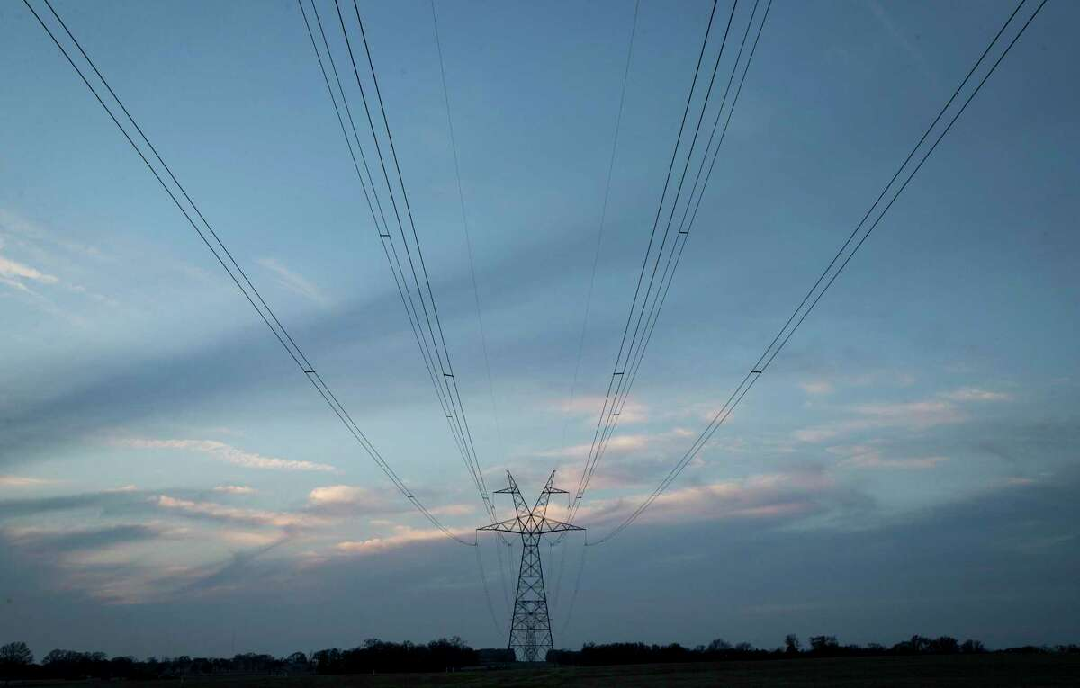Electrical transmission lines passing through Van Zandt County will carry electricity from a proposed solar power development, Monday, Feb. 4, 2019, in Canton.