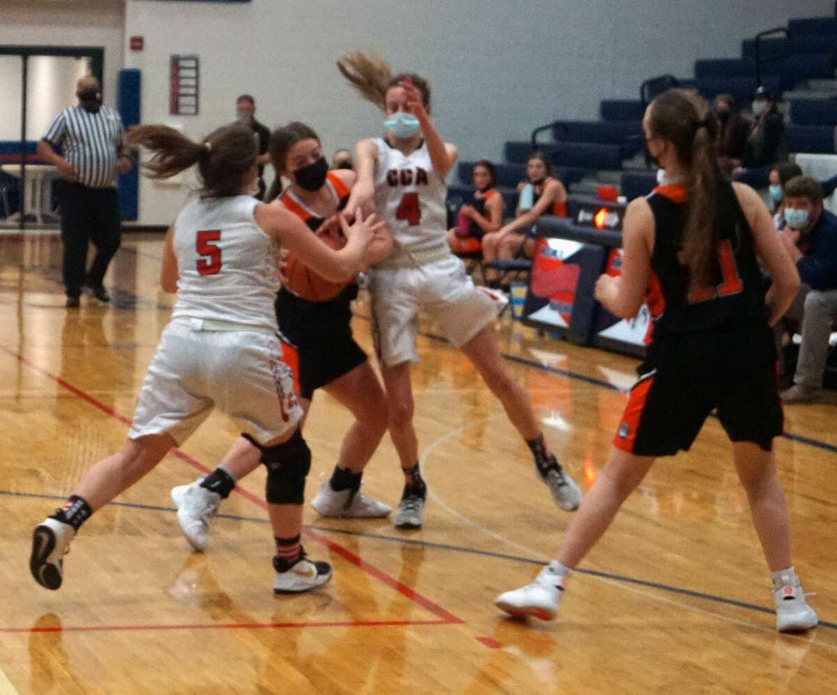 The Crossroads Charter Academy girls' basketball team was defeated at home by Mesick on Thursday night.