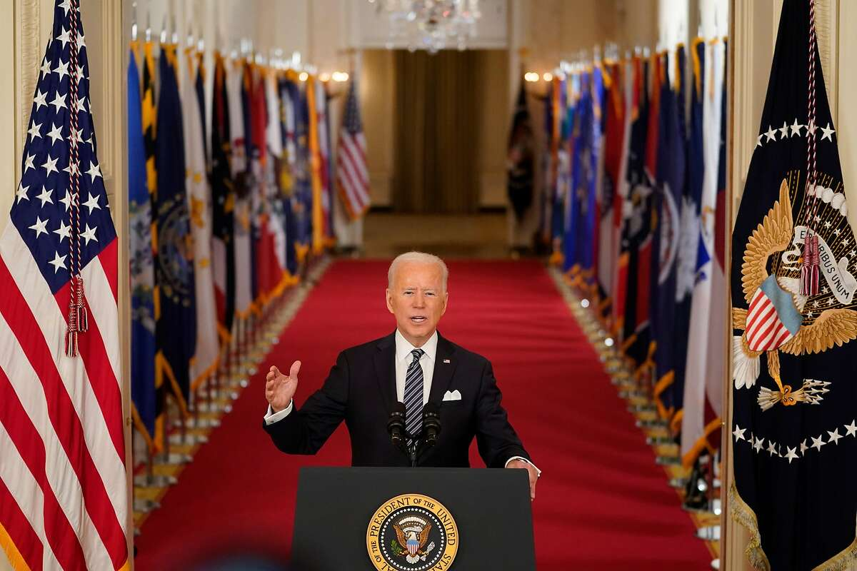President Biden addresses the nation in a prime-time speech on the March 11 anniversary of the COVID-19 shutdown, hours after signing into law a $1.9 trillion stimulus package.