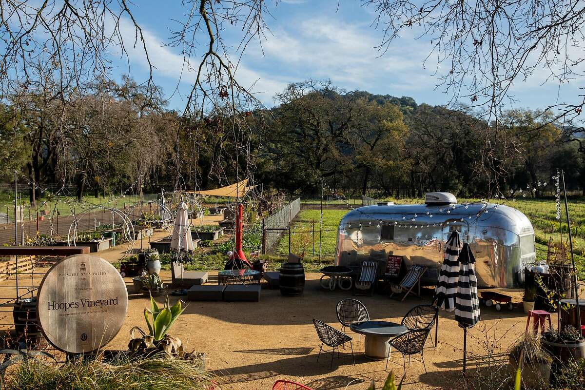 The grounds and gardens of Hoopes Vineyard in Napa.