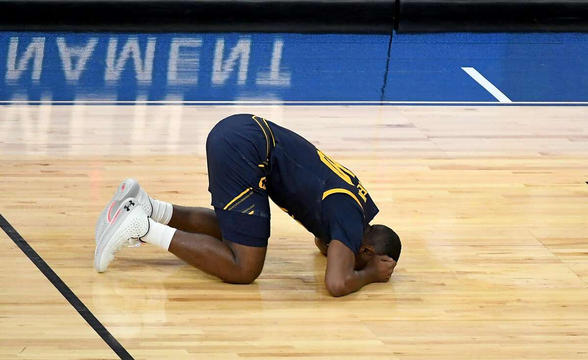 Cal's Makale Foreman reacts after missing a potential tying 3-pointer in the closing seconds.