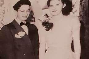 Donald and Sylvia Beasley at their wedding