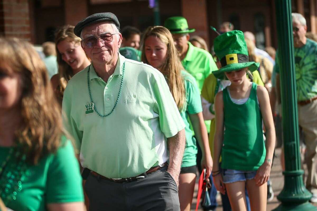St. Patrick's Day revelers participate in a previous Conroe St. Patrick's Day Walking parade in Conroe. This year's parade is set for 5 p.m. Wednesday at The Corner Pub.