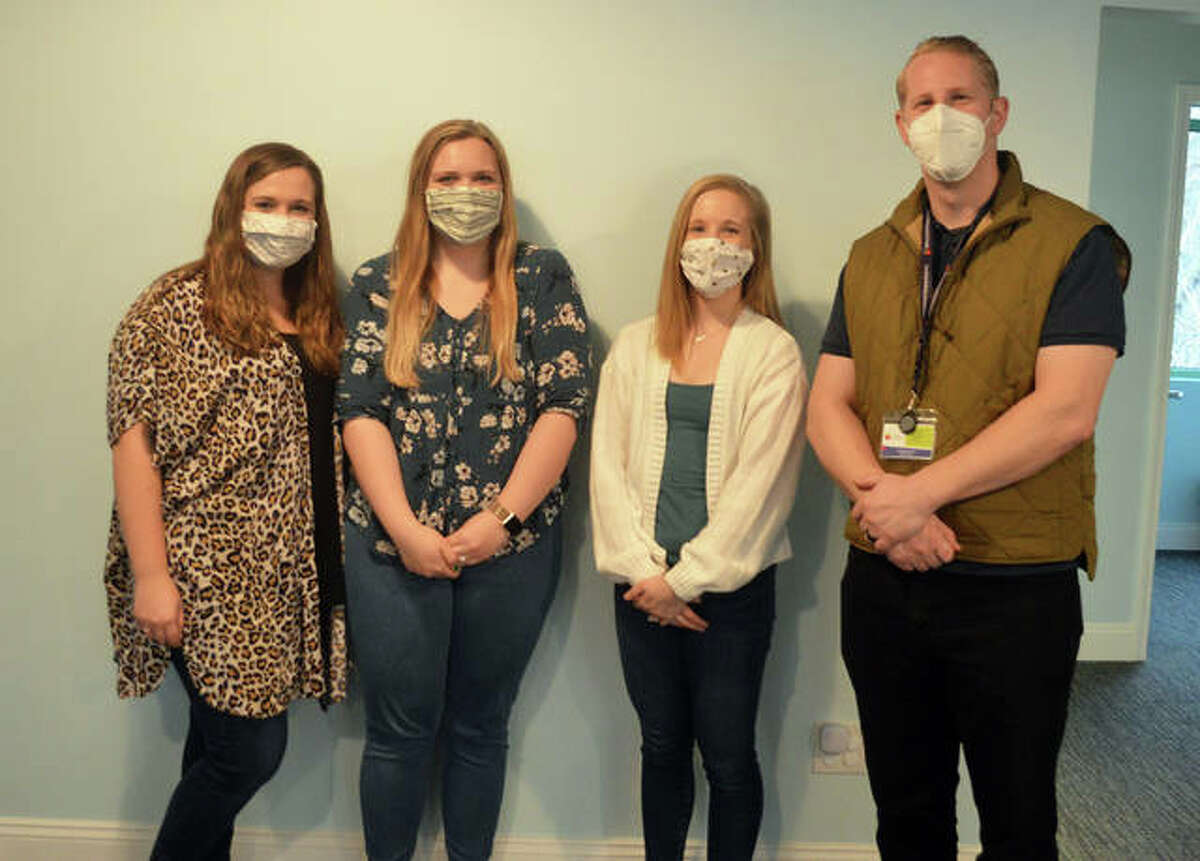 Staff members for Behavioral Perspective, Inc., include left to right, Regional Director of Central Illinois Clinical Services Michaela Goode, Clinic Manager Kaitlynne McNutt, Lead Clinician Meredith Becks and Director of New Regions Scott LaPorta.