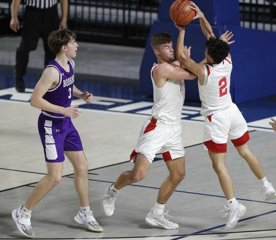 during the third quarter of a Class 4A state semifinal game at Delmar Fieldhouse, Tuesday, March 9, 2021, in Houston. Huffman defeated Boerne 55-49. Photo: Jason Fochtman/Staff Photographer / 2021 © Houston Chronicle