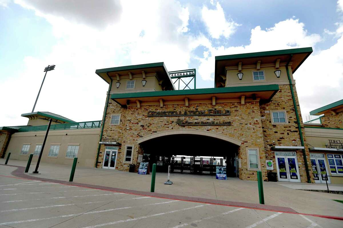 Fans of the Sugar Land Skeeters will get a glimpse at an experimental rule change for Minor League Baseball this year in the form of slightly larger bases. Shown here is the exterior of Constellation Field, home of the Skeeters.