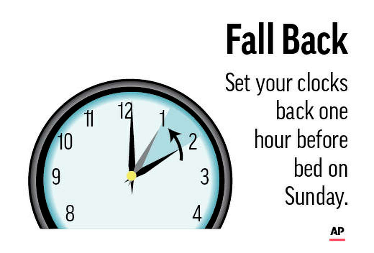 Daily Saving Time starts this weekend; remember to turn clocks back one hour.