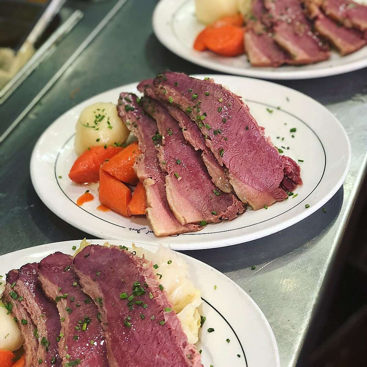 Corned beef and cabbage is the St. Patrick's Day special from San Francisco restaurant Original Joe's.