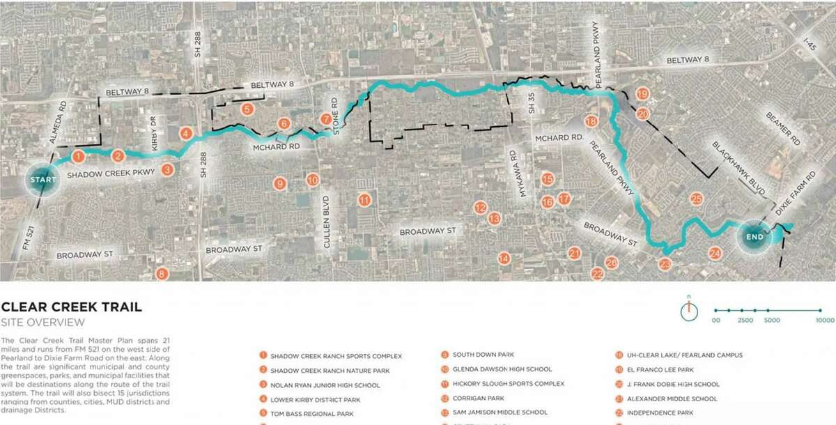 The Clear Creek Trail plan will provide trails that will eventually cover 21 miles from the east and west parts of the city.