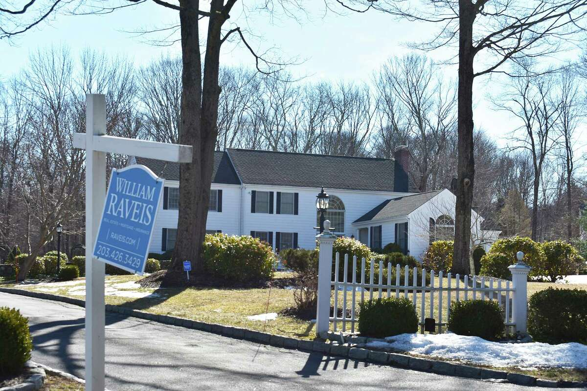 A house under contract in March 2021 just off Boggs Hill Road in Newtown, Connecticut.