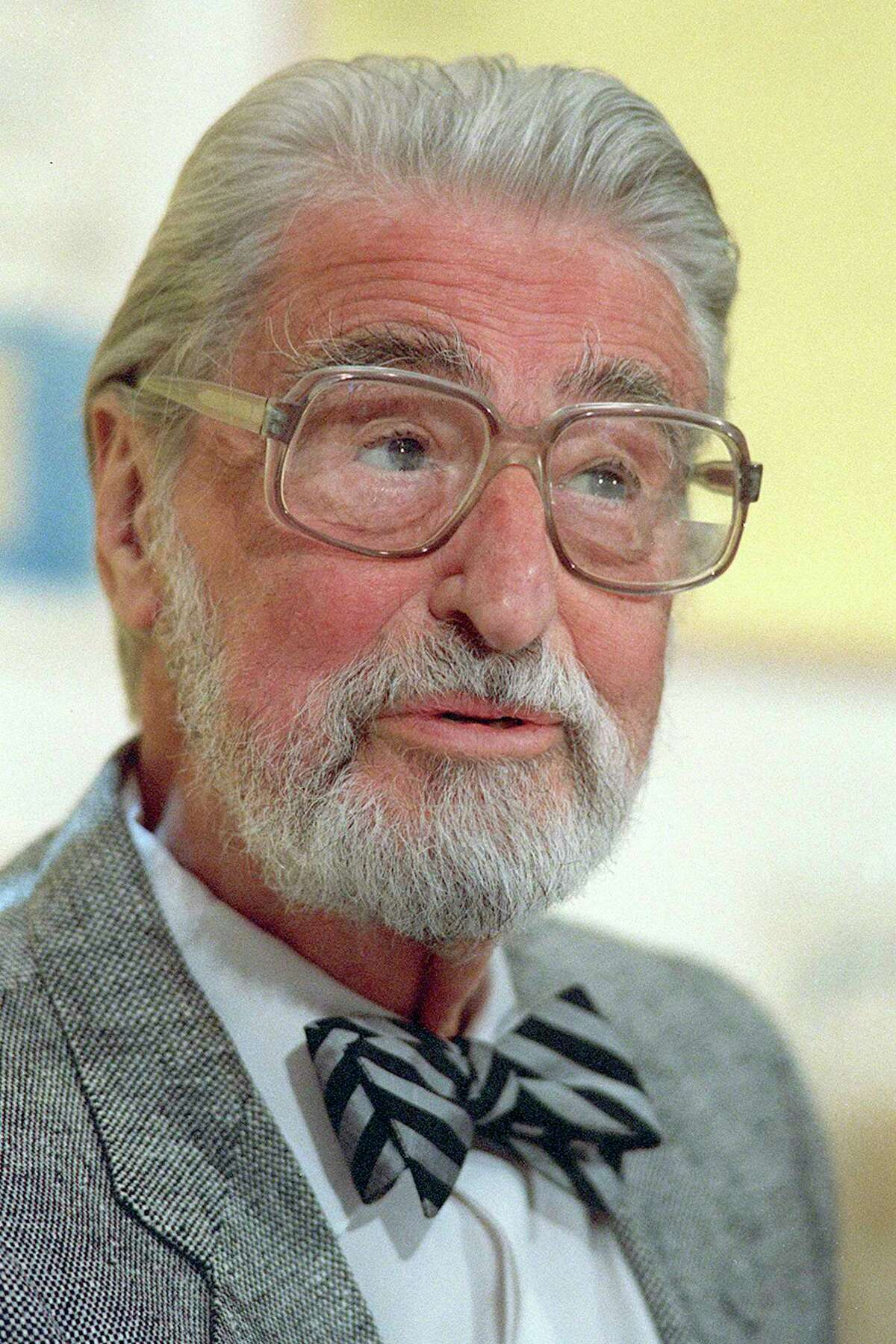 Theodor Seuss Geisel, known as Dr. Seuss, speaks in Dallas in 1987. Dr. Seuss is being seen in a new light over racist imagery in some of his publications. How can such a man be guilty of the very ugliness he condemns? It may be difficult to reconcile this contradiction, but the dynamic reflects the complex nature of racism.
