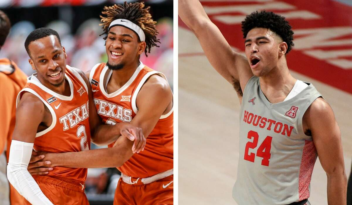 Matt Coleman and Greg Brown (left) have Texas rolling and Quentin Grimes has the University of Houston looking like a 2-seed in the NCAA Tournament.