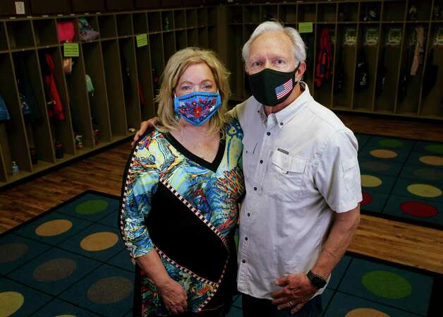 Pamela and Gordon Humphries, owners of Creative Corner Child Development Center, pose for a photograph inside the daycare Tuesday, March 9, 2021, in Houston. The pandemic has bankrupt daycares across the country, and many have had to consider closing or close all together. Pamela thinks she wonít have to close any of her daycares ñ she and her husband own three ñ but she is worried about her staffís mental health. Photo: Godofredo A. V·squez, Houston Chronicle / Staff Photographer / © 2021 Houston Chronicle