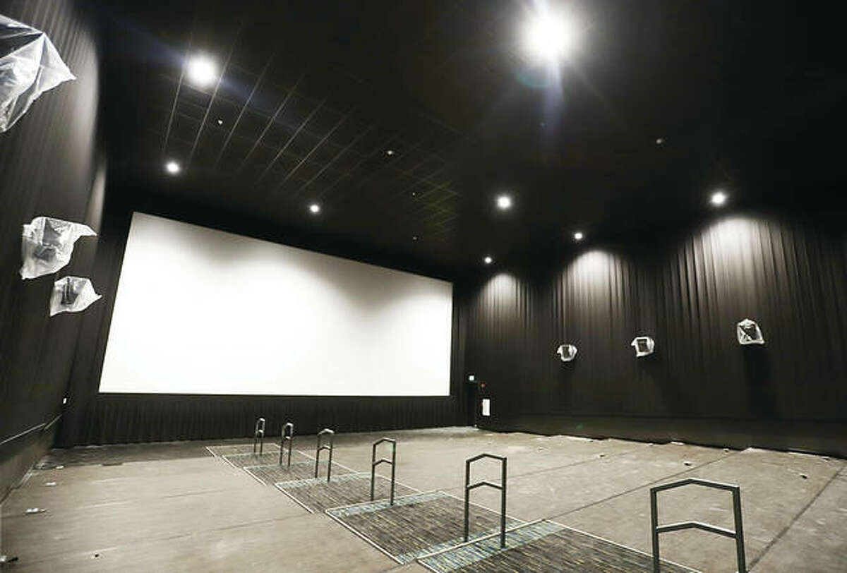 All eight auditoriums in the Neighborhood Cinema Group theater inside the Alton Square Mall are ready for the more than 800 luxury reclining seats which are scheduled to start arriving Monday.