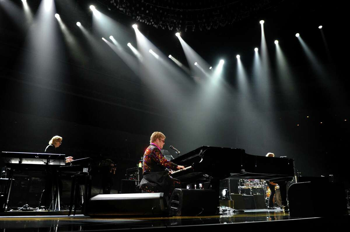 Sir Elton John performs in concert at the Webster Bank Arena in downtown Bridgeport, Conn. on Friday November 8, 2013.