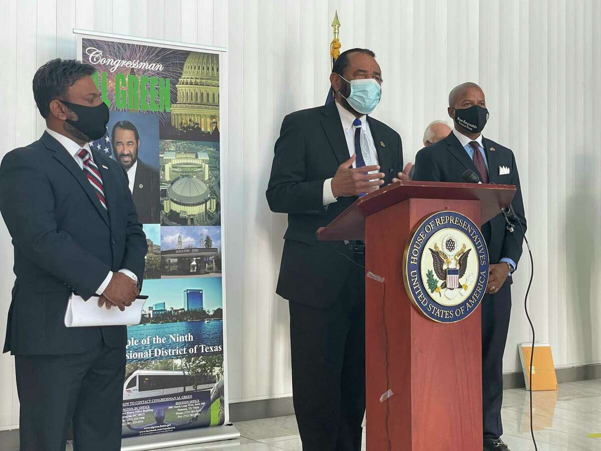 U.S. Rep. Al Green details the allocation of funding from the American Rescue Plan Act of 2021 on Friday, March 12, 2021.