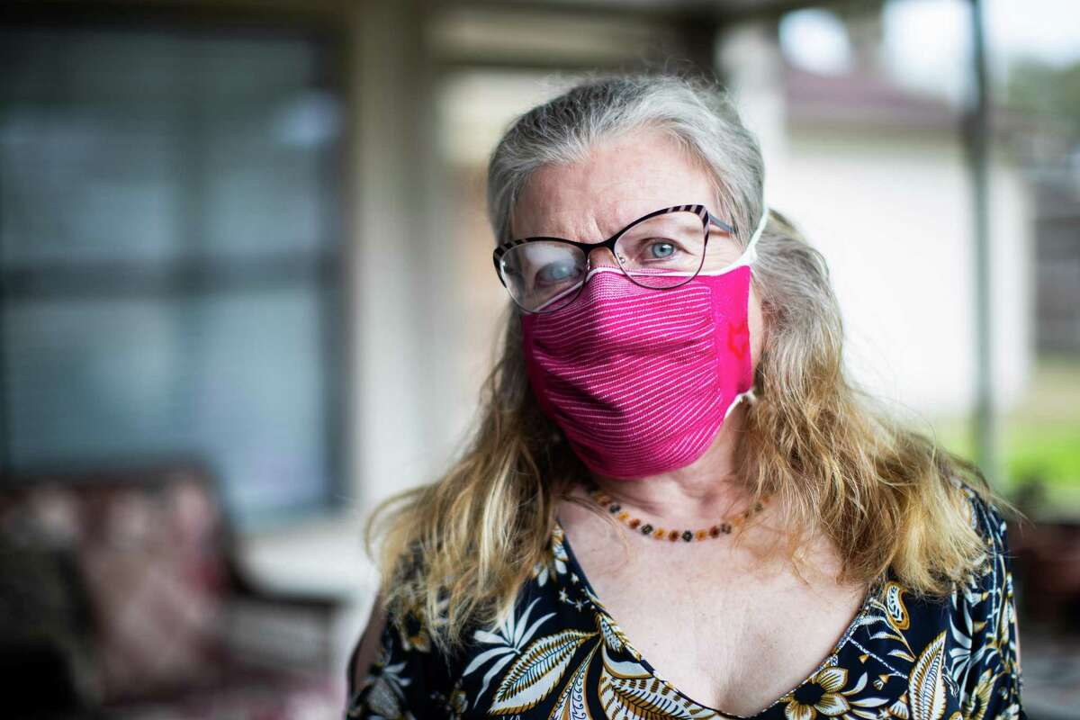Judith Oppenheimat her home, Thursday, March 11, 2021, in Friendswood. Oppenheim, who has a Ph.D in chemical engineering early in the pandemic began volunteering with the Atlantic's massive COVID Tracking Project.